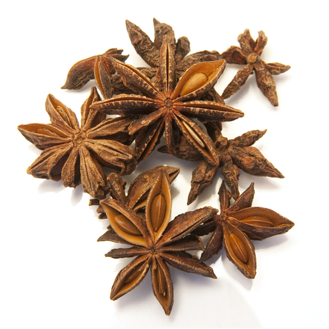 Stjerneanis, hel • Star anise • Phool chakri